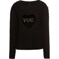 Sweter z cekinami bonprix czarno-złoty. Szare swetry klasyczne damskie marki Reserved, l. Za 109,99 zł.