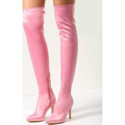 Buty zimowe damskie: Różowe Kozaki Proud Cate