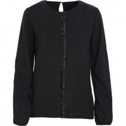 Czarna Koszula Warmly. Czarne koszule damskie Born2be, l, z tkaniny, z okrągłym kołnierzem, z długim rękawem. Za 59,99 zł.
