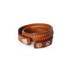 Bransoletka Natural Leather. Brązowe bransoletki damskie na nogę Moderntime, metalowe. Za 39,90 zł.