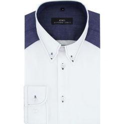 Koszula BIAGIO slim 15-08-31-K. Szare koszule męskie na spinki marki House, l, z bawełny. Za 199,00 zł.