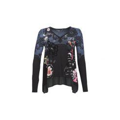 T-shirty z długim rękawem Desigual  KAPPAL. Czarne t-shirty damskie marki Desigual, l. Za 259,00 zł.