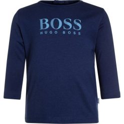 Bluzki dziewczęce bawełniane: BOSS Kidswear BABY LAYETTE Bluzka z długim rękawem hellblau