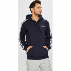 Adidas Performance - Bluza. Szare bluzy męskie rozpinane adidas Performance, l, z aplikacjami, z bawełny, z kapturem. Za 249,90 zł.