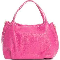 Torebki klasyczne damskie: Skórzana torebka w kolorze różowym – 28 x 25 x 18 cm