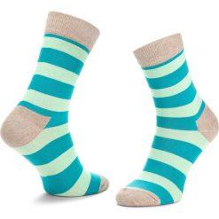 Skarpety Wysokie Unisex HAPPY SOCKS - STR01-1000 Kolorowy. Czerwone skarpetki męskie marki Happy Socks, z bawełny. Za 34,90 zł.