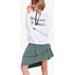 Bluzy rozpinane damskie: BLUZA DAMSKA KANGURKA, Z NADRUKIEM