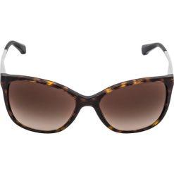 Emporio Armani Okulary przeciwsłoneczne dark brown/gold. Brązowe okulary przeciwsłoneczne damskie lenonki Emporio Armani. Za 569,00 zł.