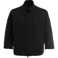 Adidas Performance TRANS Bluza rozpinana black. Czarne bluzy damskie adidas Performance, l, z bawełny. W wyprzedaży za 399,20 zł.