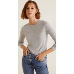 Mango - Sweter Stone. Szare swetry klasyczne damskie Mango, l, z dzianiny, z okrągłym kołnierzem. W wyprzedaży za 69,90 zł.