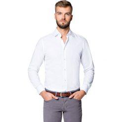Koszula Biała Smart by Lancerto. Białe koszule męskie na spinki LANCERTO, m, z bawełny, z klasycznym kołnierzykiem. Za 199,90 zł.
