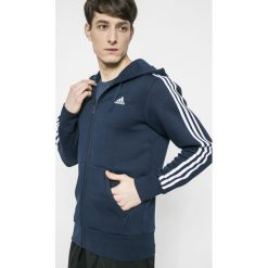 Adidas Performance - Bluza Ess 3S. Szare bejsbolówki męskie adidas Performance, m, z bawełny, z kapturem. W wyprzedaży za 219,90 zł.