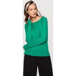 Swetry damskie: Sweter z półokrągłym dekoltem - Zielony