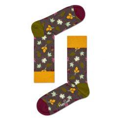 Skarpety Happy Socks Fall Leaves (FAL01-8000). Brązowe skarpetki męskie Happy Socks, z bawełny. Za 29,99 zł.