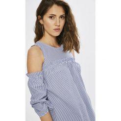 Haily's - Bluzka. Szare bluzki damskie Haily's, l, z bawełny, z okrągłym kołnierzem. W wyprzedaży za 49,90 zł.
