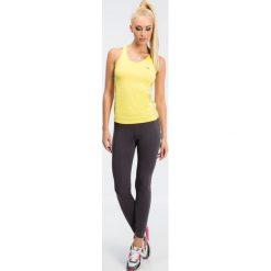 Grafitowe legginsy sportowe z kolorowymi lampasami 12613. Szare legginsy sportowe damskie marki Fasardi, l, w kolorowe wzory. Za 59,00 zł.