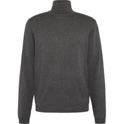 Finshley & Harding - Sweter męski – Pima-Cotton/Kaszmir, szary. Czarne swetry klasyczne męskie marki Finshley & Harding, w kratkę. Za 249,95 zł.