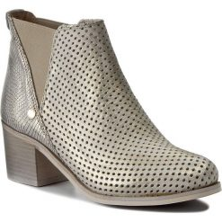 Botki R.POLAŃSKI - 0856 Złoty Przecier/Złoty Crocco. Czarne buty zimowe damskie marki R.Polański, ze skóry, na obcasie. W wyprzedaży za 229,00 zł.