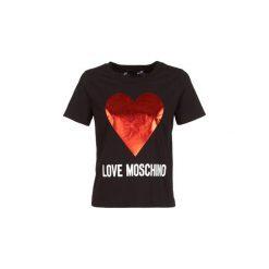 T-shirty z krótkim rękawem Love Moschino  CACIAMI. Czarne t-shirty damskie Love Moschino. Za 439,00 zł.