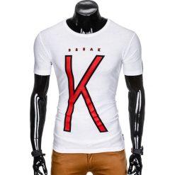 T-SHIRT MĘSKI Z NADRUKIEM S925 - BIAŁY. Białe t-shirty męskie z nadrukiem Ombre Clothing, m. Za 29,00 zł.