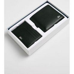 Lacoste - Portfel skórzany. Szare portfele męskie Lacoste, z materiału. W wyprzedaży za 399,90 zł.