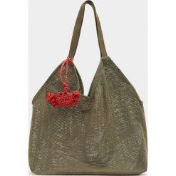 Torebki klasyczne damskie: Zielona torba z siateczki