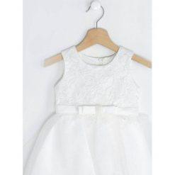Biała Sukienka Merida. Białe sukienki niemowlęce marki Born2be, z bawełny. Za 69,99 zł.