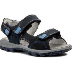 Sandały PRIMIGI - 7647000 M Blue S. Niebieskie sandały chłopięce Primigi, z nubiku. W wyprzedaży za 149,00 zł.