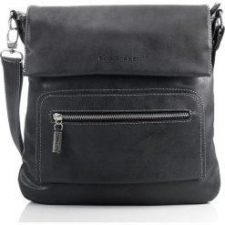 Czarna listonoszka damska torebka Bag Street na ramię. Czarne listonoszki damskie marki Bag Street, w paski, ze skóry, na ramię. Za 99,00 zł.