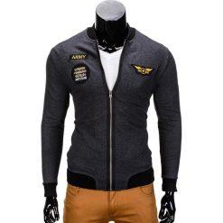 Bluzy męskie: BLUZA MĘSKA ROZPINANA BEZ KAPTURA B676 – GRAFITOWA