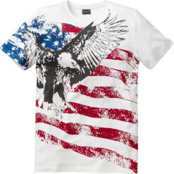 T-shirty męskie z nadrukiem: T-shirt Slim Fit bonprix biel wełny