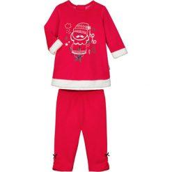 Spodnie niemowlęce: 2-częściowy zestaw w kolorze czerwonym