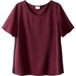 Bluzki damskie: Bluzka gładka z okrągłym dekoltem, krótki rękaw