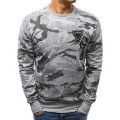 Bluzy męskie: Bluza męska z nadrukiem camo szara (bx3466)