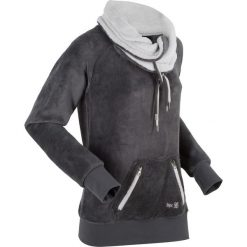 Bluza z polaru, długi rękaw bonprix szaro-matowy srebrny. Szare bluzy polarowe marki bonprix, z długim rękawem, długie. Za 99,99 zł.