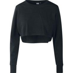 Bluzy rozpinane damskie: Urban Classics Ladies Terry Cropped Crew Bluza damska czarny