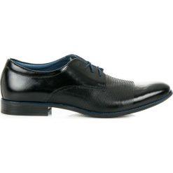 Półbuty wizytowe. Czarne buty wizytowe męskie LUCCA. Za 219,00 zł.
