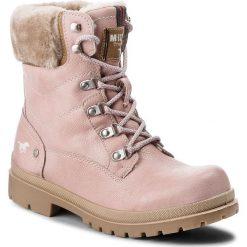 Trapery MUSTANG - 43C088  Różowy. Czerwone buty zimowe damskie Mustang, z materiału. Za 249,00 zł.