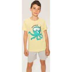 Bielizna chłopięca: Dwuczęściowa piżama z szortami - Żółty