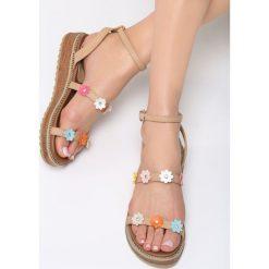 Sandały damskie: Beżowe Sandały Nervous
