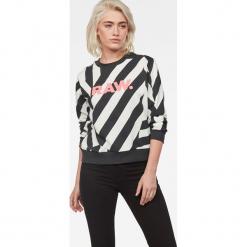 G-Star Raw - Bluza. Czerwone bluzy z nadrukiem damskie marki G-Star RAW, l, z bawełny. Za 419,90 zł.