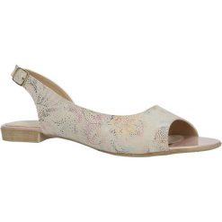 Beżwe sandały mozaika Casu 3114. Szare sandały damskie marki Casu. Za 69,99 zł.
