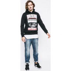 Bench - Bluza. Czarne bluzy męskie rozpinane marki Bench, l, z nadrukiem, z bawełny, bez kaptura. W wyprzedaży za 139,90 zł.