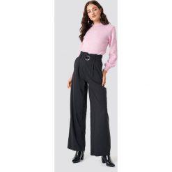 Spodnie damskie: Trendyol Spodnie Binding Detail - Black