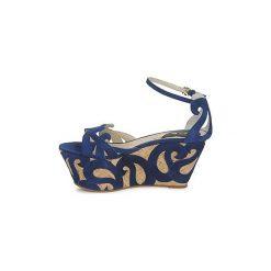 Sandały Etro  3489. Niebieskie sandały damskie Etro. Za 1833,30 zł.