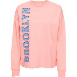 Bluzy damskie: Bluza z nadrukiem bonprix łososiowy z narukiem