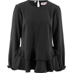 Bluzka z baskinką, z kolekcji Maite Kelly bonprix czarny. Czerwone bluzki z odkrytymi ramionami marki bonprix. Za 79,99 zł.
