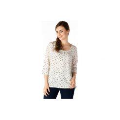 Bluzki damskie: bluzka damska luźna, z guzikami we wzory