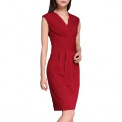 Sukienka w kolorze czerwonym. Czerwone sukienki marki Vogue.Va, midi. W wyprzedaży za 214,95 zł.
