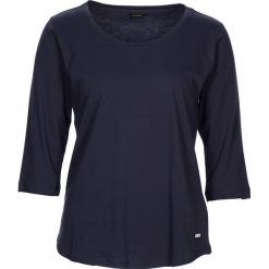 """Koszulka piżamowa """"Free Dreams"""" w kolorze granatowym. Białe koszule nocne i halki marki LASCANA, w koronkowe wzory, z koronki. W wyprzedaży za 40,95 zł."""